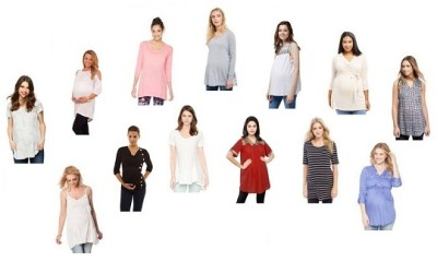 9 Trendy Long Tunic Maternity Tops for Daily Wear