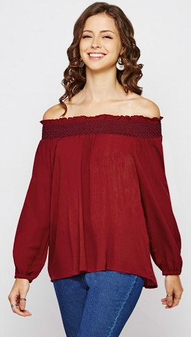 A Dark Red Bishop Top
