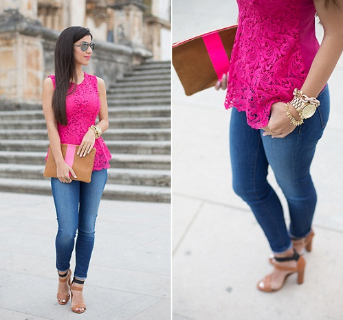A Neon Pink Top