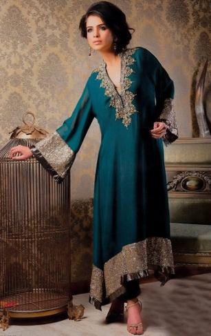 A Pakistani Salwar Suit Plus Size Design