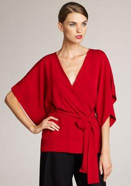 A Red Kimono Top