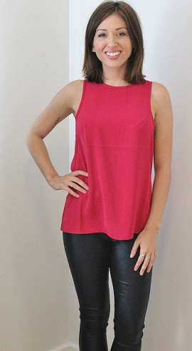 A Red Singlet Top