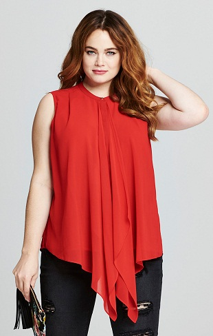 A Red Waterfall Front Top