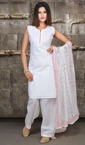 A White Salwar Top