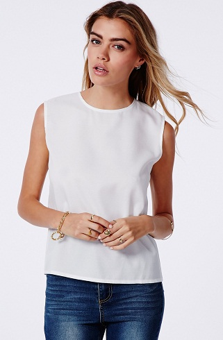 A white Shell Top