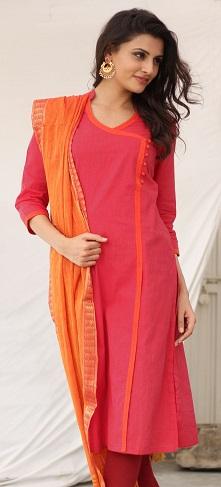 Angrakha Style Cotton Salwar Suit