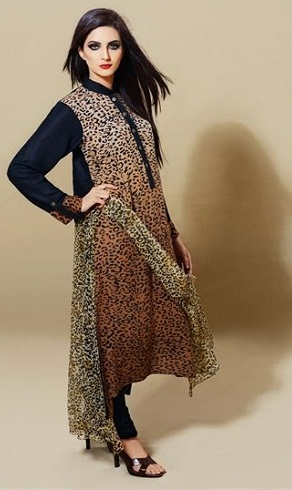 Animal Print Salwar Suit