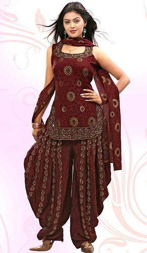 Apple-Cut Salwar Kameez