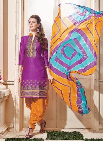 Bandhani Embroidery Salwar Suit