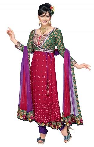 Bandhani Silk Salwar Suit