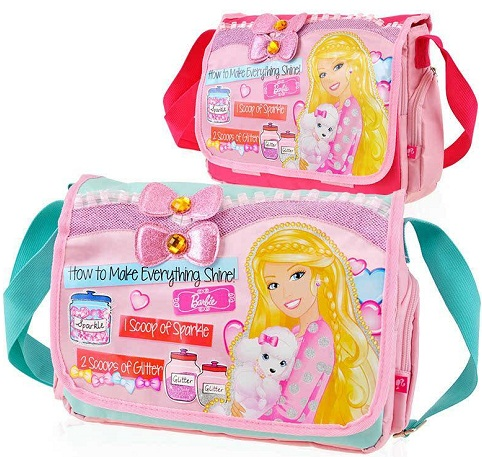 Barbie School bag for Small Girls -16