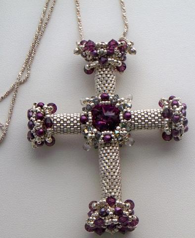 Beaded Cross Pendant