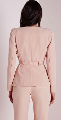 Belted Pink Blazer