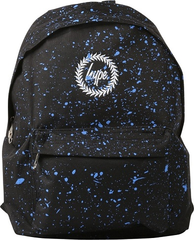 Black Blue Speckle School Bag -1