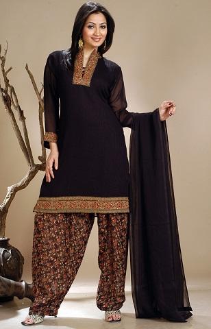 black salwar suit designs