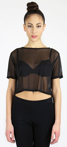 Black Sheer Top