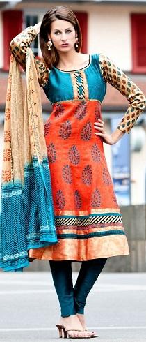 Block Print Ready Made Salwar Kameez Design