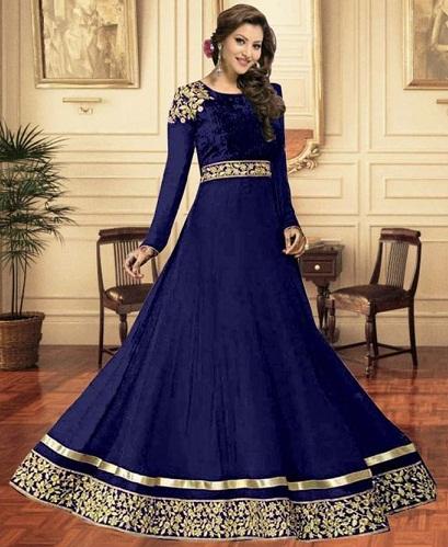 Blue Georgette Salwar Suit Design