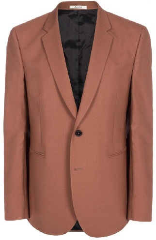 Brown Crepe Blazer