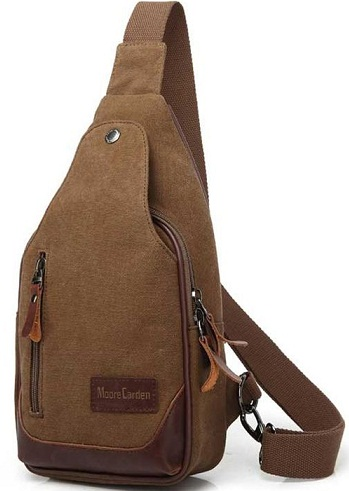 Canvas One Shoulder School Bag -15