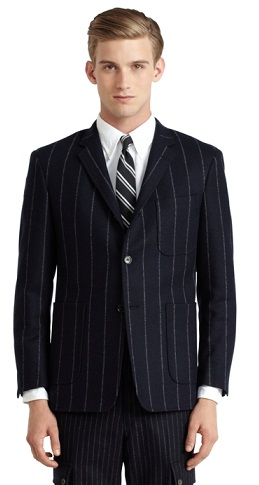 Chalk Stripe Black Blazers