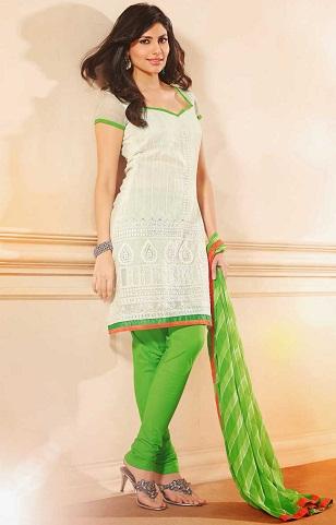 Chanderi Silk Green Salwar Suit
