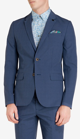 Checked Cotton Blazer