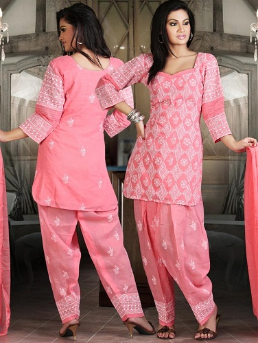 Chikan Work Salwar Suit
