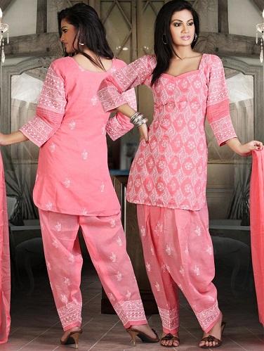 Chikan Work Salwar Suit