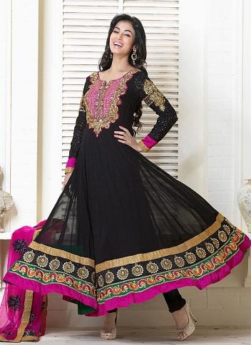 Classic Black Anarkali Suit