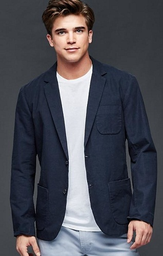 Classic Navy Cotton Blazer