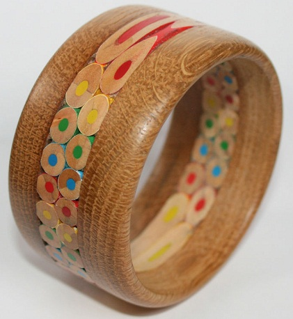 Coloured Wooden Bangle for Girls
