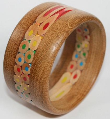 Coloured Wooden Bangle for Girls