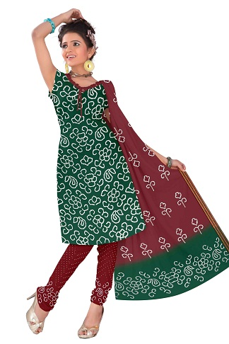 Cotton Bandhani Salwar Suit