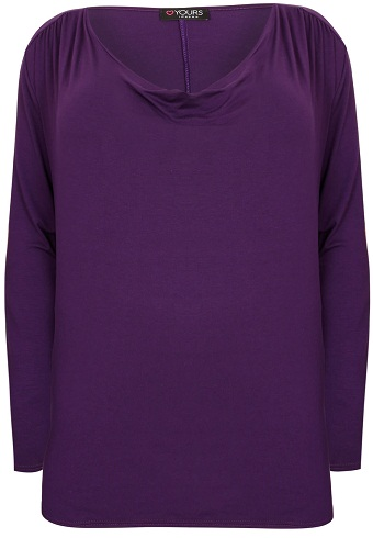 Cowl Neck Purple Top