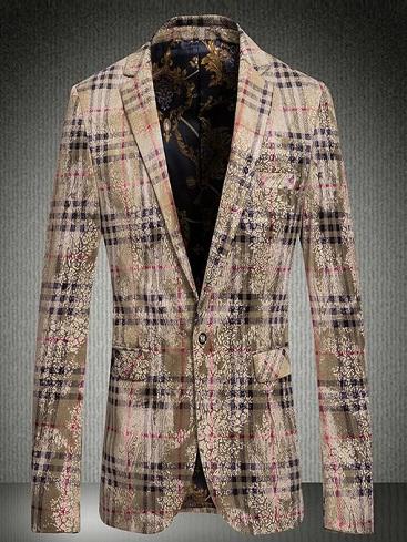 Criss cross cotton blazer