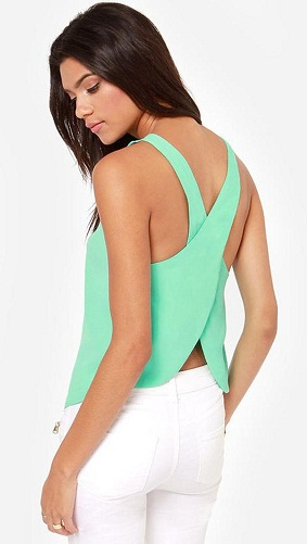 Crossed back tank top