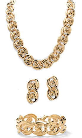 Curb link necklace set -21