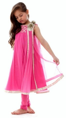 Cute Frock Style Salwar Suit for Kids