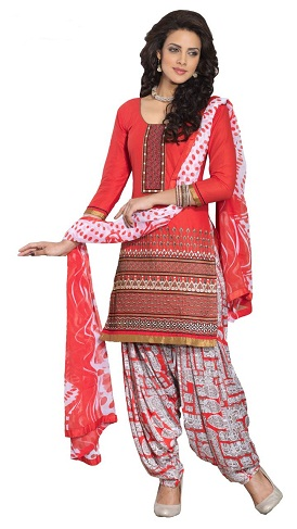Designer Cotton Salwar Kameez Suit