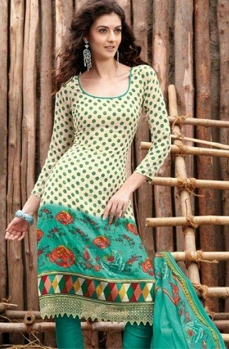 Designer Cotton Salwar Kameez for Girls12
