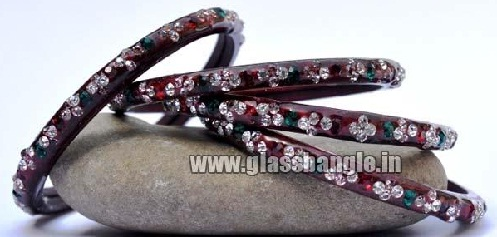 designer glas bangles for girls