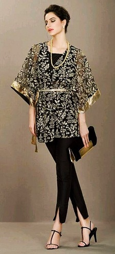 Designer Silk Kaftan Top