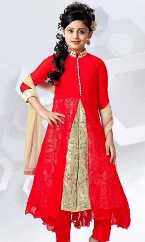 Double Flare Kid's Salwar Suit