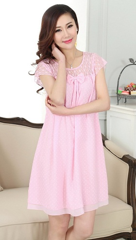 dcf7c696f4 A dress nighty is knee length nighty. It is my favourite type of nighty.  You can do all of your work in it. If it is cold night then