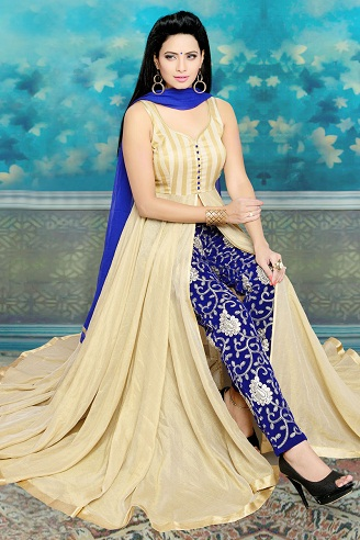 Embroidered Pant Salwar Suit