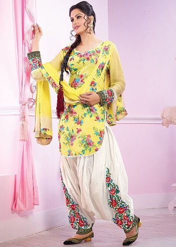 Embroidered Punjabi Salwar Suit