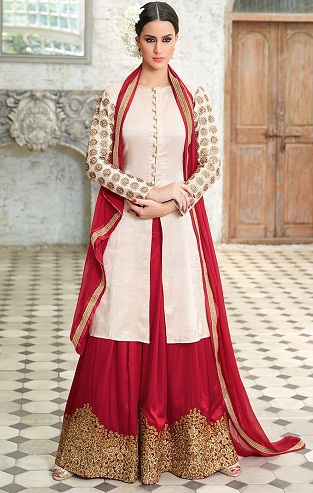 Embroidery Sharara Salwar Suit -7