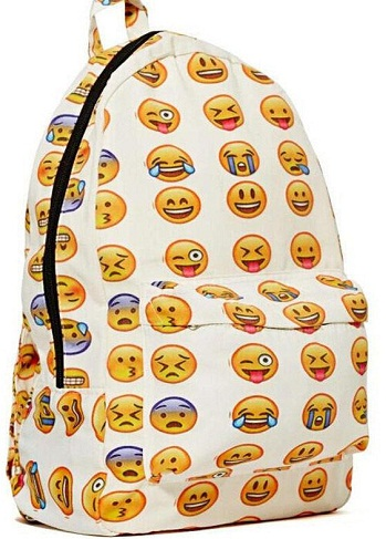 Emoji Embossed School Bag -14