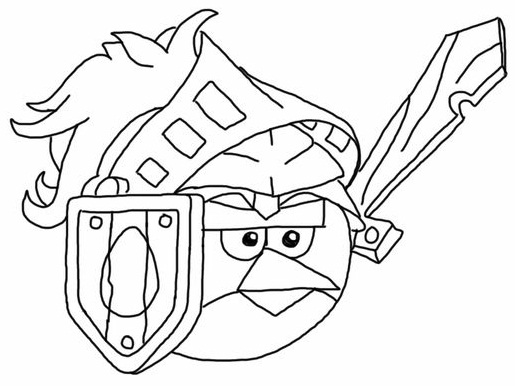 Epic Angry Bird Colouring Page